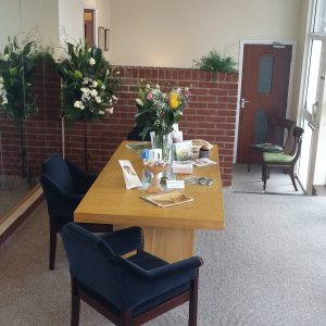 Inside the Paul Walsh independent Family Funeral Directors Office